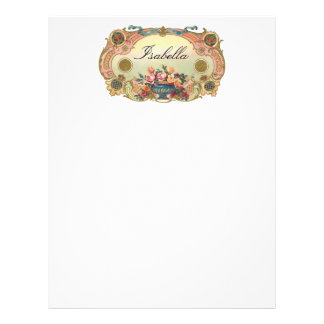 Vintage Floral Personelized Letterhead Stationery