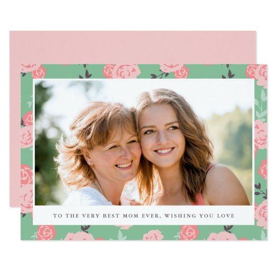 Vintage Floral Photo Mother's Day Card