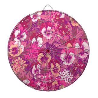Vintage Floral Pink Pansy Dartboard