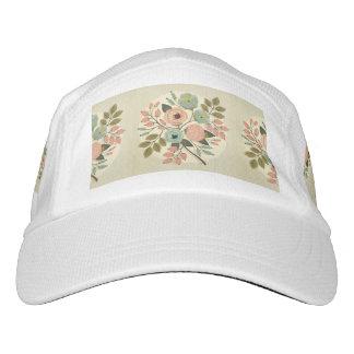 Vintage, floral, pintado a mano, color de agua, gorras de alto rendimiento