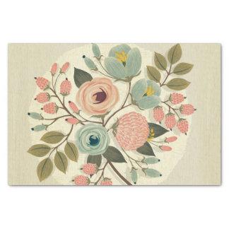 Vintage, floral, pintado a mano, color de agua, papel de seda pequeño