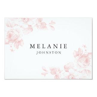 Vintage floral place card