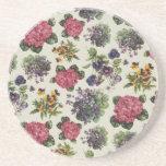 Vintage floral posavasos manualidades