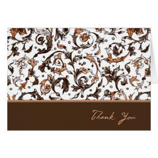 Vintage Floral Print Card