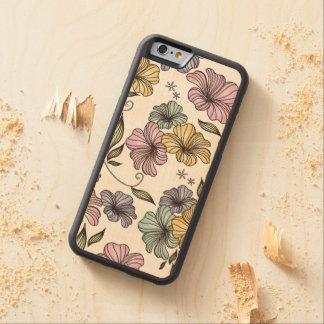 Vintage Floral Print Pattern Carved® Maple iPhone 6 Bumper Case