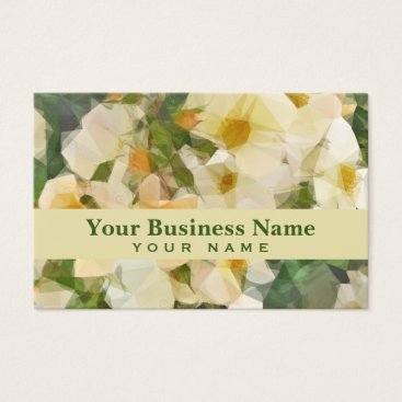 Professional Business Vintage Floral Prism Business Card