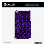 Vintage Floral Purple  Black iPod Touch 4G Skin