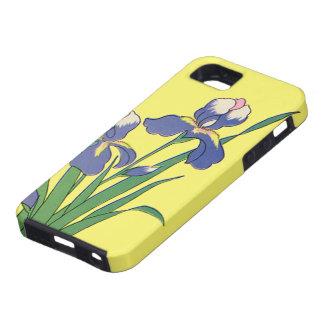 Vintage Floral, Purple Spring Garden Iris Flowers iPhone SE/5/5s Case