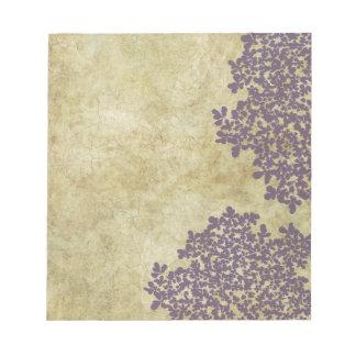 Vintage floral púrpura bloc