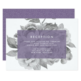 Vintage Floral Reception Card | Violet