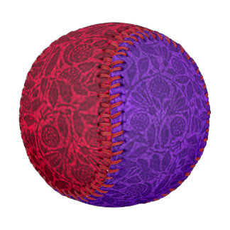 Vintage Floral Red and Purple Baseball