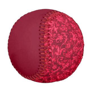 Vintage Floral Red Baseball