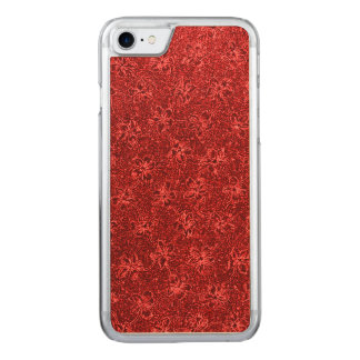 Vintage Floral Red Carved iPhone 7 Case
