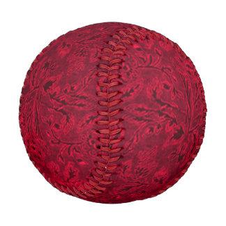 Vintage Floral Red Flowers Leaf Baseball