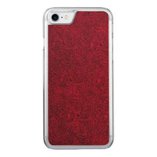 Vintage Floral Red Flowers Leaf Carved iPhone 7 Case