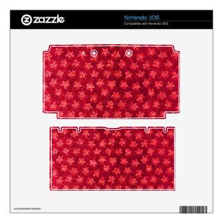 Vintage Floral Red 3DS Skins