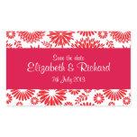 Vintage floral red Sticker stickers