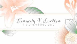 Refer a friend business cards zazzle vintage floral refer a friend business card colourmoves