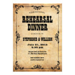 Vintage Floral Rehearsal Dinner Card Personalized Invitation