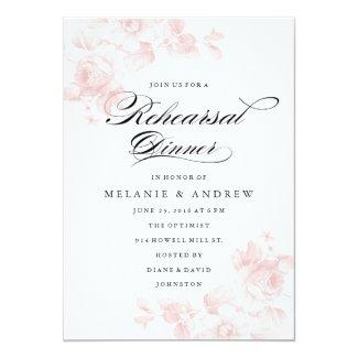 "Vintage floral | Rehearsal Dinner Invitation 5"" X 7"" Invitation Card"