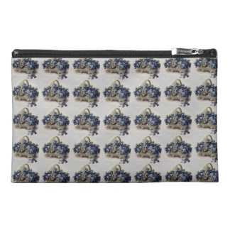 Vintage Floral Retro Flowers Forget-Me-Not Basket Travel Accessories Bags