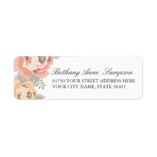 Vintage Floral Return Address Labels
