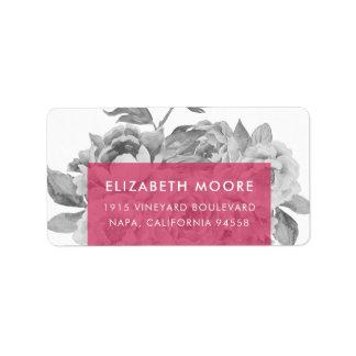 Vintage Floral Return Address Labels | Berry