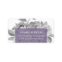 Vintage Floral Return Address Labels | Violet