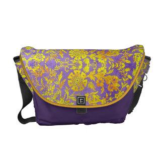Vintage Floral Rickshaw Bag Messenger Bags
