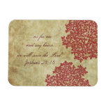 Vintage floral rojo imanes flexibles
