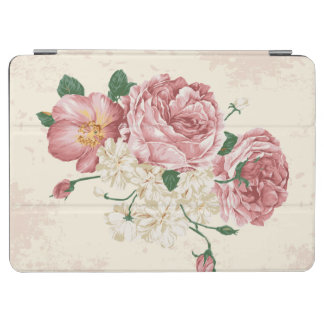 Vintage Floral Rose Pattern iPad Air Cover