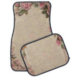 Vintage Floral Roses Antique Girly Beautiful Car Floor Mat