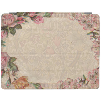 Vintage Floral Roses Antique Soft Girly iPad Smart Cover