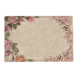 Vintage Floral Roses Antique Soft Girly Placemat