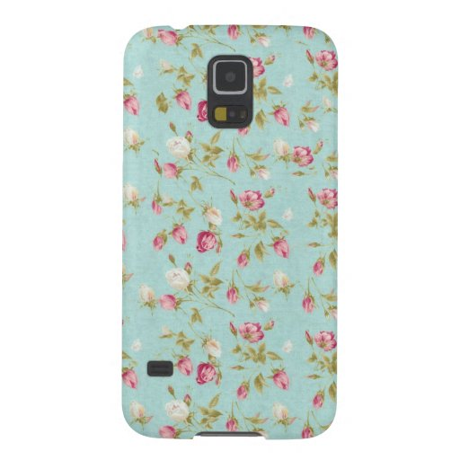 Vintage floral roses blue shabby chic rose flowers galaxy s5 covers