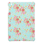 Vintage floral roses blue shabby rose flowers chic cover for the iPad mini