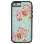 Vintage floral roses blue shabby rose pattern tough xtreme iPhone 6 case