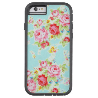 Vintage floral roses blue shabby rose pattern tough xtreme iPhone 6 case