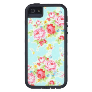 Vintage floral roses blue shabby rose pattern case for iPhone SE/5/5s