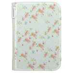 Vintage floral roses pink shabby chic rose flowers kindle keyboard cases