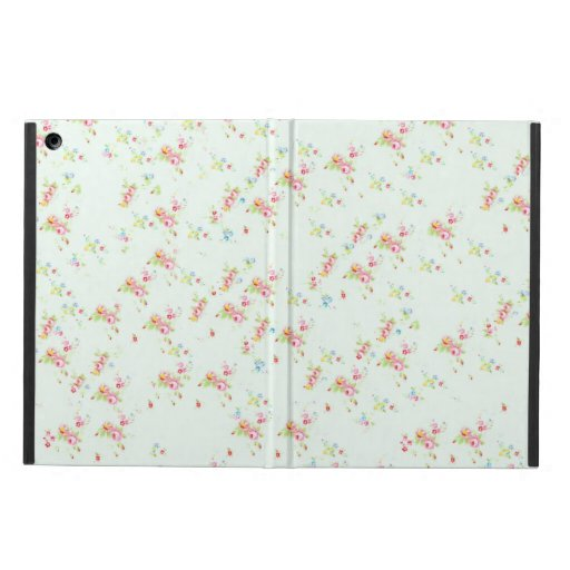 Vintage floral roses pink shabby chic rose flowers iPad air cases