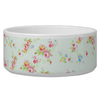 Vintage floral roses pink shabby rose chic flowers bowl