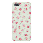 Vintage floral roses pink shabby rose chic flowers case for iPhone 5
