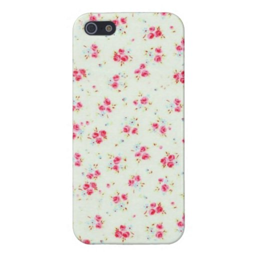 Vintage floral roses pink shabby rose chic flowers iPhone 5 cases