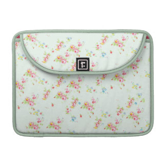 Vintage floral roses pink shabby rose chic flowers sleeves for MacBook pro