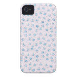 Vintage floral roses shabby chic blue rose flowers iPhone 4 Case-Mate case