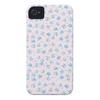 Vintage floral roses shabby chic blue rose flowers iPhone 4 cover