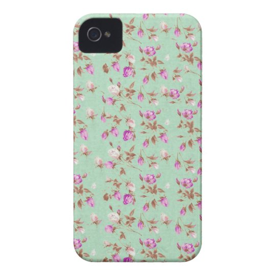 Vintage floral roses shabby chic rose flowers iPhone 4 Case-Mate case