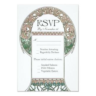 Vintage Floral RSVP Wedding Cards I