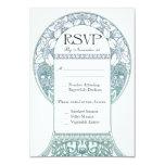 Vintage Floral RSVP Wedding Cards V (v.3) Custom Invitation